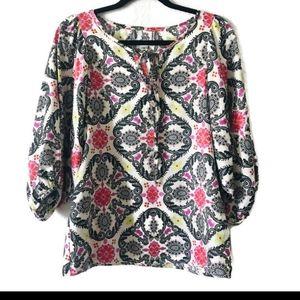 Ivy Jane floral paisley printed boho blouse